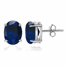 Lab-Created Sapphire Sterling Silver Fine Jewellery