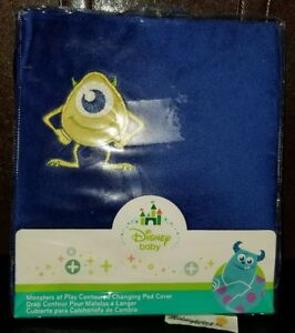 NEW DISNEY BABY MONSTERS AT PLAY CONTOURED CHANGING PAD COVER.