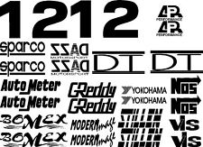 FAST AND FURIOUS SPONSOR CAR LOGOS VINYL DECAL GRAPHIC