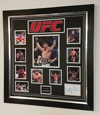 ** RARE Michael Bisping Signed Photo Autograph Display **