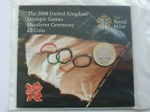 2008 Beijing Olympic Handover BU £2 Coin Two Pound - Still Sealed