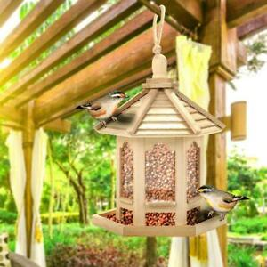Suspended wooden insect-proof seed feeder feeder