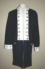 Revolutionary War Colonial Army Frock Blue w/White Facings - Size 46 Top Quality
