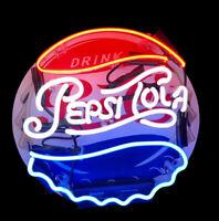 Colorful  Sign Pepsi Cola Coke Soda Drink Poster Cap NEON Light