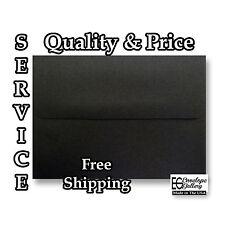 High Quality 70lb Envelopes for Invitations Wedding Card Midnight Black A2A6A7 q