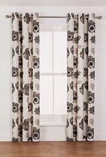 Modern Floral Tape Top 100% Cotton Curtains & Pelmets