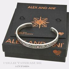 Authentic Alex and Ani Healing Love Cuff Rafaelian Silver Bangle CUFF