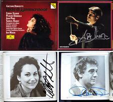 Placido DOMINGO Cheryl STUDER Ion MARIN Signed DONIZETTI Lucia di Lammermoor 2CD