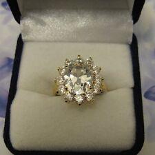 Dolly-Bijoux Grosse Bague Marquise de Diamant Cz 20 mm Plaqué Or 18K 5 Microns