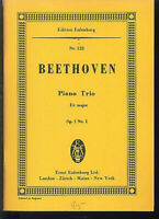 Beethoven, Piano Trio  Es-Dur  Op.1 No. 1 ~ Studienpartitur