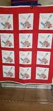 Handmade embroidered baby quilt /Cross stitch blanket