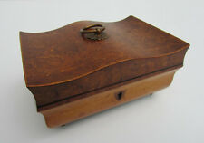 Very rare unusual shaped bombe form Dutch Wooden Box, jewelry/table/letterbox