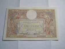 -100 Francs Luc Olivier Merson Type-1906--MOTIFIE---DQ.21=10=1937.DQ-DATE-RARE