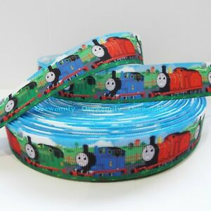 Per Metre - Thomas and Friends  22mm wide Printed Grosgrain Ribbon /Cake/ Bow