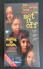 SET IT OFF Promomotional VHS Tape Movie 1997 Queen Latifah FREE SHIP New SEALED