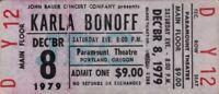 KARLA BONOFF 1979 RESTLESS NIGHTS TOUR UNUSED PARAMOUNT THEATRE CONCERT TICKET