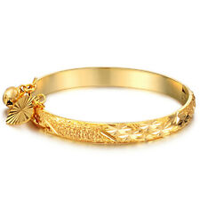 Bracelet Child Cuff Heart Gold Plated Hypoallergenic Gold for Baby Gold Color