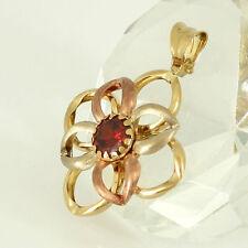Markenlose runde Echtschmuck aus mehrfarbigem Gold Halsketten und Anhänger