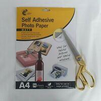 10 x A4 Self Adhesive Matte Inkjet Printer Photo Paper Premium Quality 110 GSM