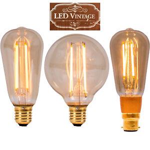Vintage Filament LED Light Bulbs Non Dim/DIM E27 B22 Antique vintage bulbs 2000k
