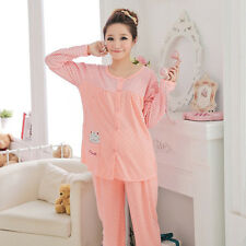 Women Comfy Pregnant  Loungewear Maternity Pajama Set Feeding Nursing Sleepwear
