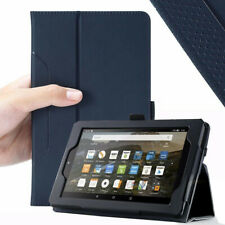 Amazon Fire 7 (2017) Tablet Case,Poetic Flip Leather Stand Cover Navy Blue