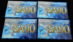 TDK High Position SA 90EB IECII/Type II Blank Cassette Tapes Unopened