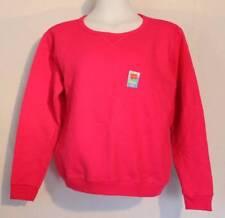 NEW Womens Sweatshirt Plus Size 2X Solid Pink Crew Neck Pullover Sweats Hanes