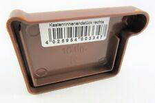 Inefa PVC-Rinnenendstück Braun rechts 8024 NW68 kastenförmig Regenrinne Dachrinn