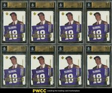 Lot(8) 1998 Collector's Choice Holding Jersey Peyton Manning ROOKIE, ALL BGS 9.5