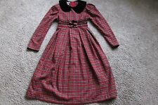 Bonnie Jean New York Red, White & Black Plaid Holiday Dress Sz 14 Lovely!