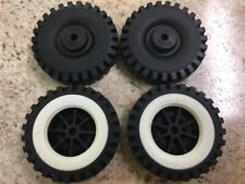 Set of 4 Tonka Plastic Wheels/Inserts Replacement Toy Parts TKP-072