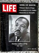 Life Magazine April 12 1968 Martin Luther King's Death Cover Yuri Gagarin Doors