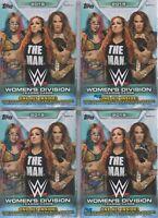 (4) 2019 Topps WWE WOMEN'S DIVISION Wrestling Trading Cards 71c BLASTER Box LOT