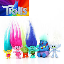 Trolls 6 PCS Action Figures Decorations PVC Dolls Cake Topper Kids Toys Gifts