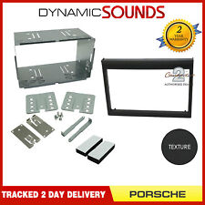 Ct23po02 PORSCHE 911 (typ996) noir double din cd Fascia Panneau Avant Kit Adaptateur Panneau