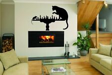 Wall Decal Sticker Bedroom Decor Chess Game Smart Board Cat Mouse Playing bo2524