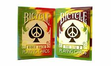 Lot 2 Bicycle Tie Dye Playing Cards Collection 1st and 2nd Generation Deck Magic