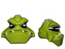 LEGO - Minifig, Head Modified Alien w/ 4 Fangs & Brain Tissue Pattern - Lime