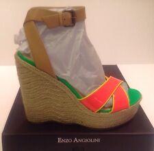 ENZO ANGIOLINI Nomas Platform Wedge Sandals  DKPINK MS SY Size 11 M MSRP $99.00