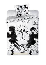 NEW Disney MINNIE MICKEY Mouse MONO Single Bed Duvet Cover Set 100% COTTON