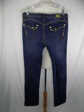 Apple Bottom Jeans by Nelly Size 9 / 10  Stretch Embellishments 32 x 33