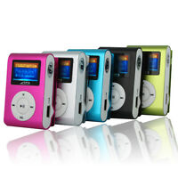 MP3 Player LCD Screen USB Clip Support 2/4/8/16GB/32GB Micro SD TF Card