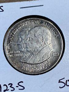 1923-S US Monroe Doctrine Commemorative Half Dollar!!