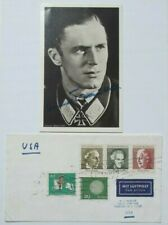 Hannes Trautloft German WW II Fighter Ace 58 Victories Signed Hoffmann Postcard
