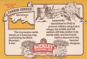 UNUSED BEERMAT- BUCKLEYS BREWERY - CARREG CENNEN - (Cat 046) - (1983)
