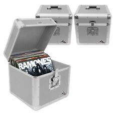 "Gorilla LP100 12"" Vinyl Record Box DJ Storage Carry Case Silver Holds 100 x3"
