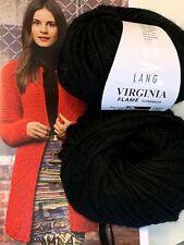 800 g Wolle Lang Yarns Wool - Virgin VIRGINIA FLAME Schurwolle Merino Schwarz
