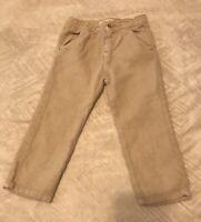 ZARA Baby Boys Collection Natural Linen Blend Pants Slacks Size 2-3 Years