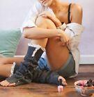 Boot Cuffs Socks Lace Leg Warmers Long Crochet Knit Toppers Knee High Legging